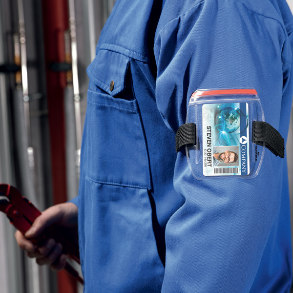Держатель для пропуска наручный, DURABLE OUTDOOR SECURE, пластик, 8414/19