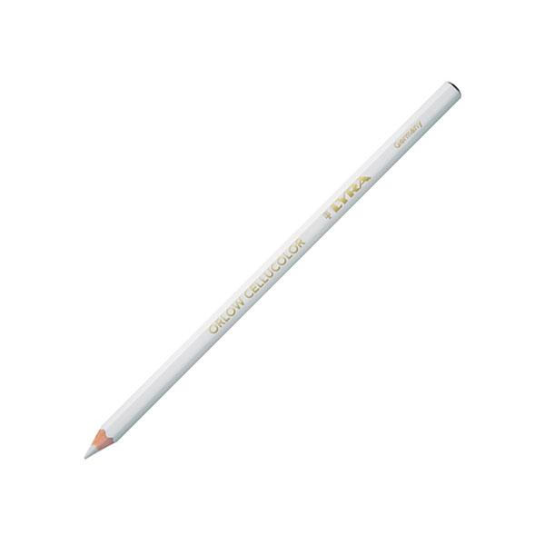 Карандаш для стекла и гладких поверхностей Lyra Orlow Cellucolor, трудностираемый, белый
