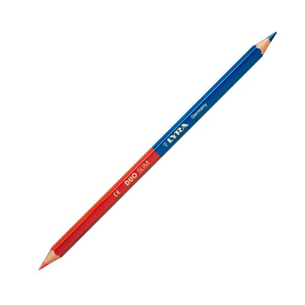 Карандаш двухцветный красно-синий LYRA DUO Slim, для плотников