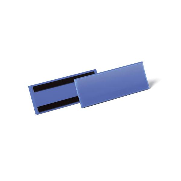Карман для маркировки магнитный DURABLE 1757/07 синий 1/2 А5