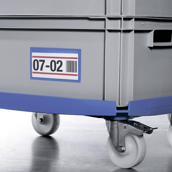 Карман для маркировки самоклеящийся 105х67 DURABLE 1762/07 синий