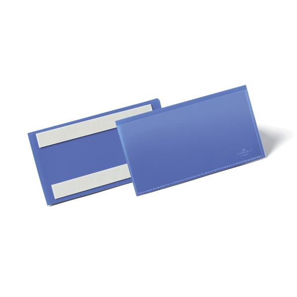 Карман для маркировки самоклеящийся 150х67 DURABLE 1762/07 синий