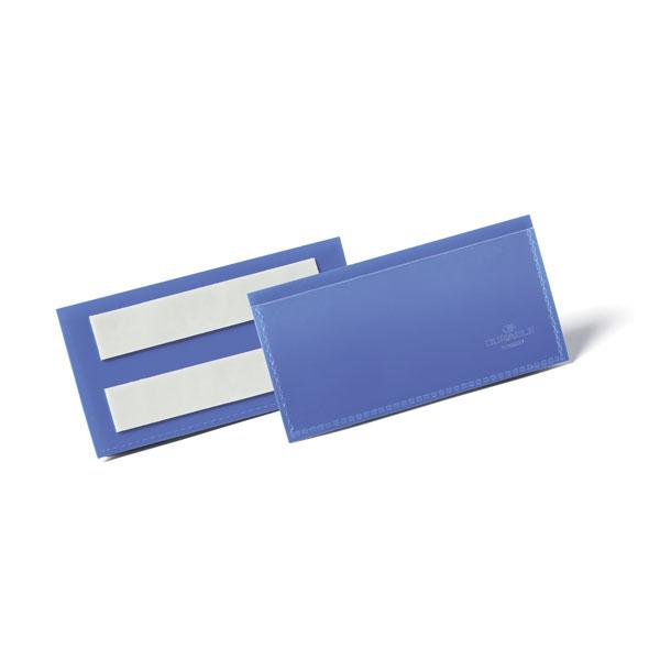 Карман для маркировки самоклеящийся DURABLE 1759/07, 100х38мм, синий