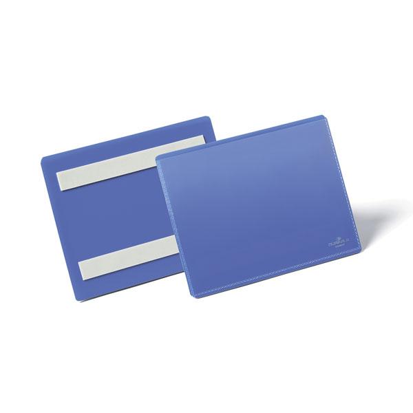 Карман для маркировки самоклеящийся DURABLE 1763/07, А6 горизонтальный, синий