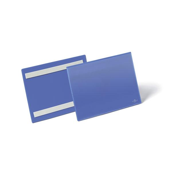 Карман для маркировки самоклеящийся DURABLE 1795/07, А5 горизонтальный, синий