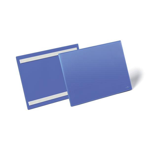 Карман для маркировки самоклеящийся DURABLE 1798/07, А4 горизонтальный, синий