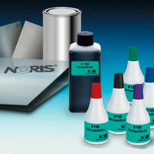 Штемпельная краска для металла 50мл красная Noris 130 C на спиртовой основе