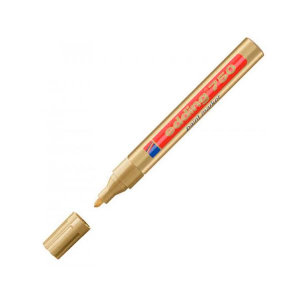 Маркер лаковый EDDING 750/53 для универсальной маркировки золотой, 2-4мм