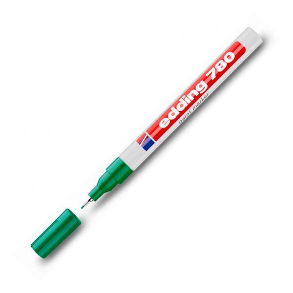 Маркер лаковый EDDING 780/4 для универсальной маркировки зелёный, 0.8мм