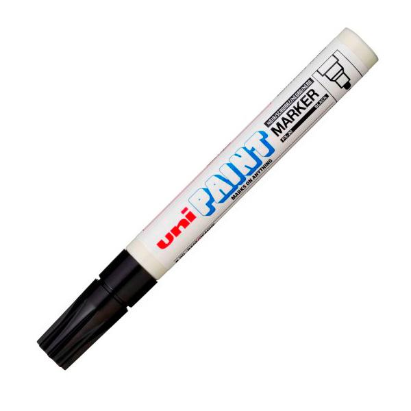 Маркер лаковый UNI PX-20 для универсальной маркировки черный 2,2-2,8мм