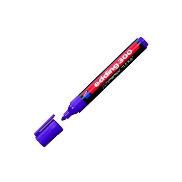 Маркер перманентный EDDING 300/8 фиолетовый 1,5-3мм