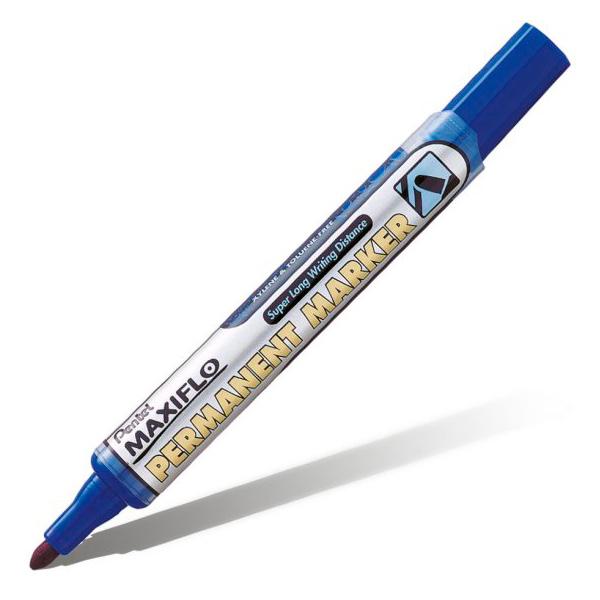 Маркер перманентный Pentel Maxiflo NLF50-C синий 4,5мм с подкачкой чернил