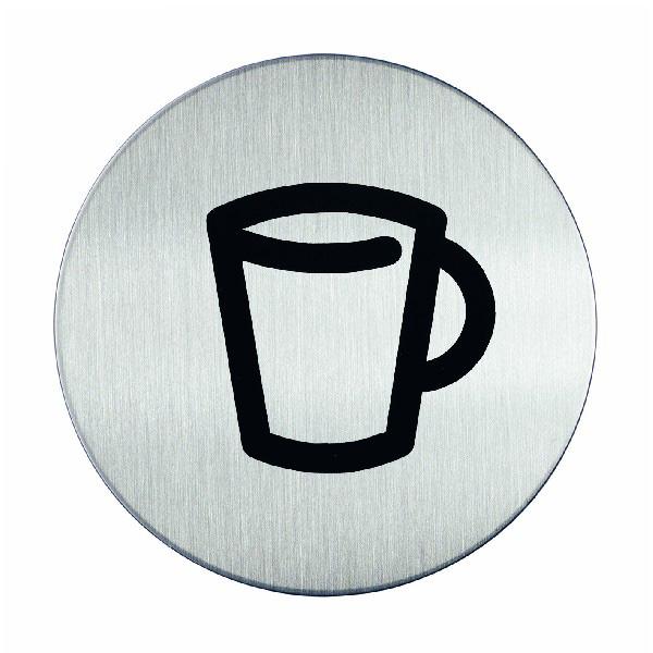 "Пиктограмма ""Кафе"", настенная табличка, DURABLE, диаметр 83мм, 4908/23"
