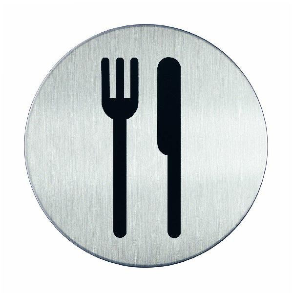 "Пиктограмма ""Кафе/ресторан"", настенная табличка, DURABLE, диаметр 83мм, 4909/23"