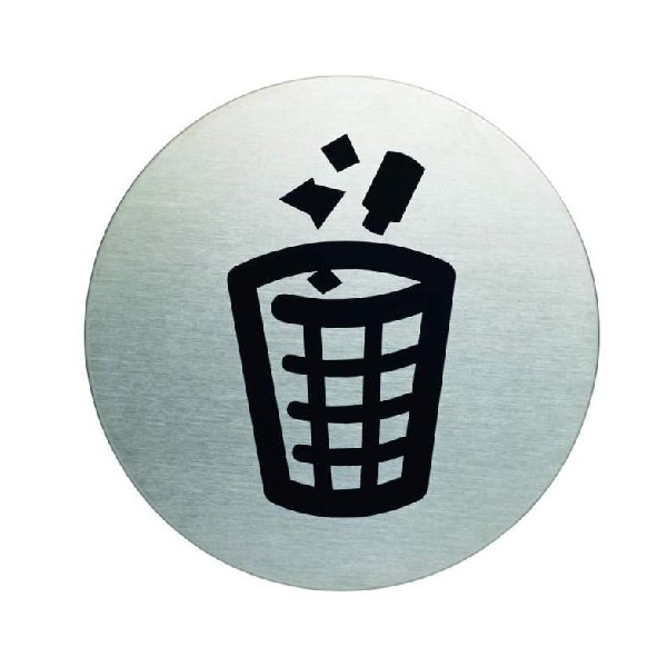 "Пиктограмма ""Место для мусора"", настенная табличка, DURABLE, диаметр 83мм, 4915/23"