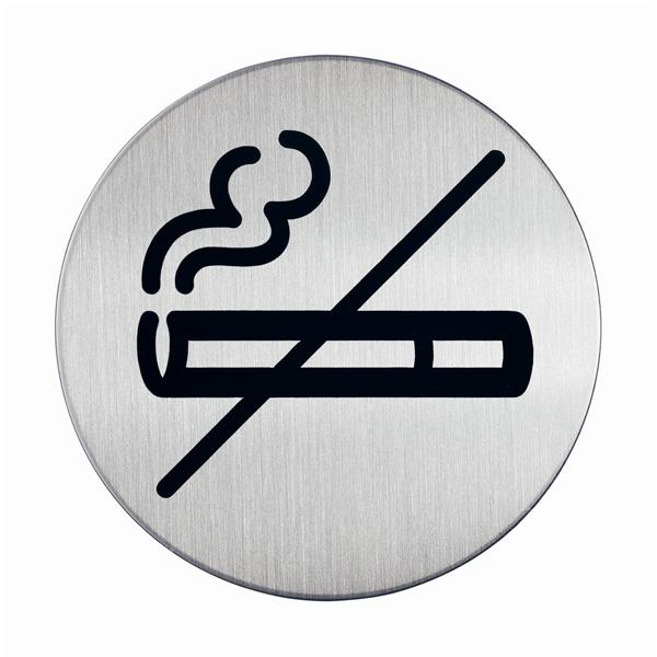 "Пиктограмма ""Не курить"", настенная табличка, DURABLE, диаметр 83мм, 4911/23"