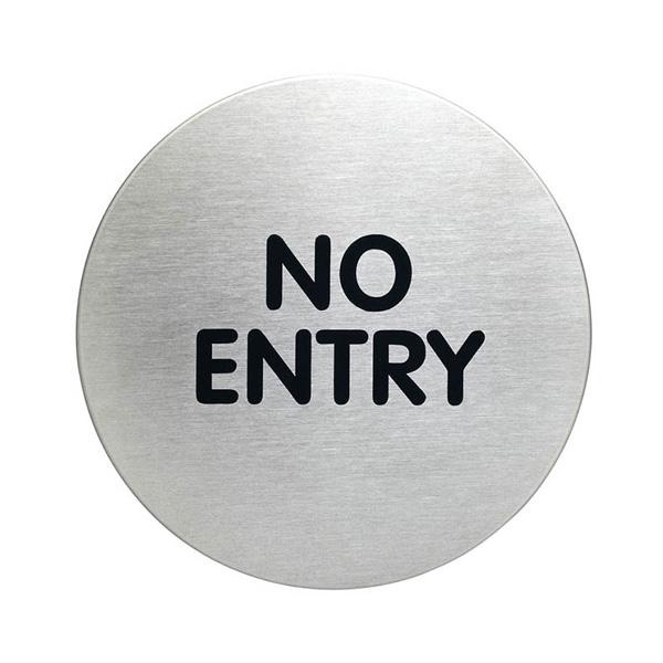 "Пиктограмма ""No entry"", настенная табличка, DURABLE, диаметр 83мм, 4912/65"