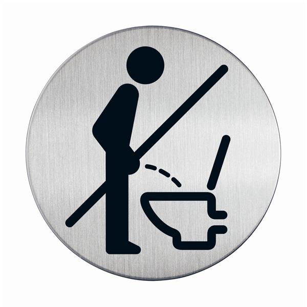 """Пиктограмма """"Пользоваться сидя"""", настенная табличка, DURABLE, диаметр 83мм, 4921/23"""