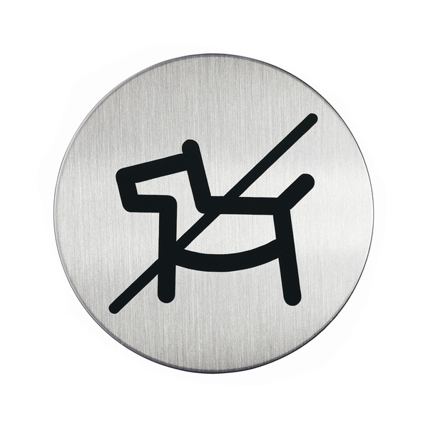 "Пиктограмма ""Вход с животными запрещён"", настенная табличка, DURABLE, диаметр 83мм, 4918/23"