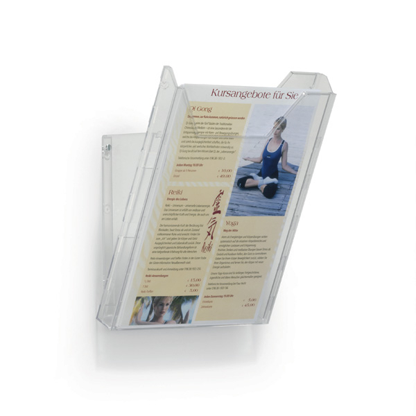 Подставка для рекламных материалов А4 DURABLE COMBIBOXX, вертикальная, прозрачная, 8578/19