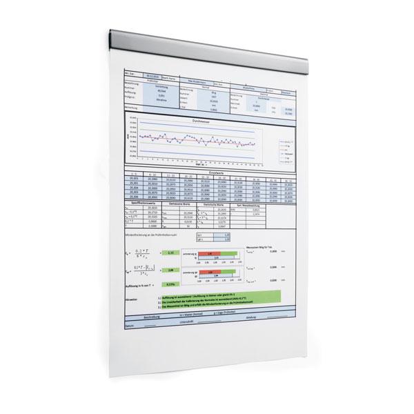 Полоса магнитная (держатель для информации) 210х17мм DURABLE DURAFIX® RAIL 4706/23, 5шт/уп, серебристый