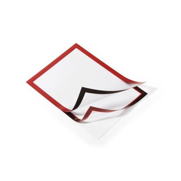 Рамка информационная магнитная А4 DURABLE Duraframe 4872/03 красная
