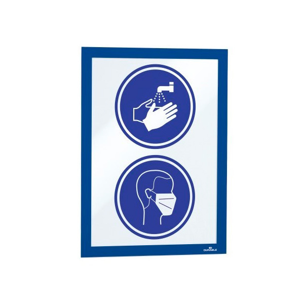 Рамка информационная магнитная А4 DURABLE Duraframe 4872/07 синяя