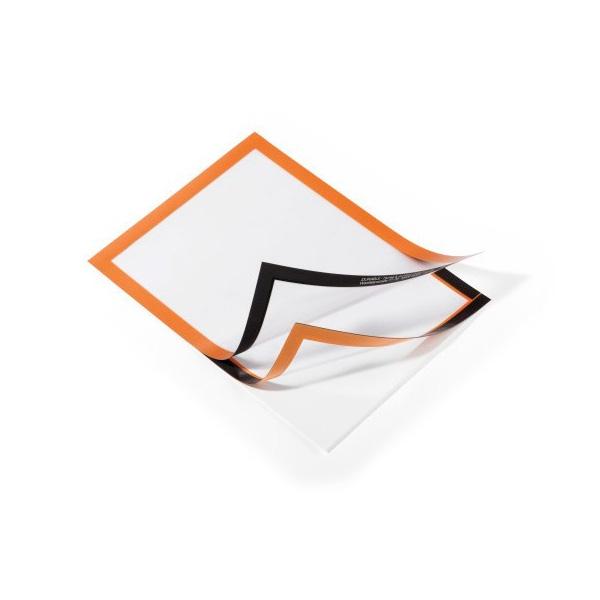 Рамка информационная магнитная А4 DURABLE Duraframe 4872/09 оранжевая