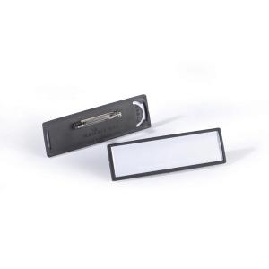 Бейдж с булавкой 17х67мм, в рамке, DURABLE CLIP CARD, 8133/01