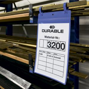 Карман для маркировки, на ремешках 297х210 DURABLE 1751/07 А4 горизонтальный синий
