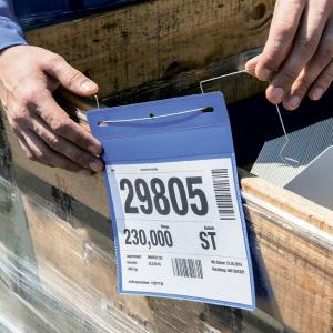Карман для маркировки с подвесом DURABLE 1752/07, А5 горизонтальный, синий