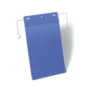Карман для маркировки с подвесом DURABLE 1753/07, А4 вертикальный, синий
