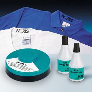 Штемпельная краска для хлопковых тканей  50мл чёрная Noris 320 C