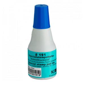 Штемпельная краска универсальная 25мл синяя Noris 191 A на спиртовой основе для пластика, стекла, металла, дерева