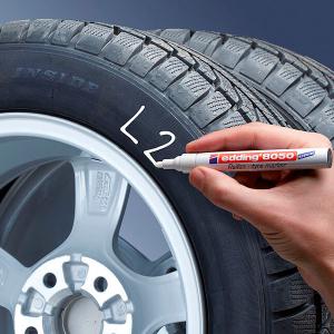 Маркер для шин и резины Edding 8050 белый 2-4мм