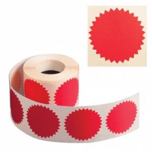 Наклейки для опечатывания документов Звёздочки красные 500шт 52мм конгривки