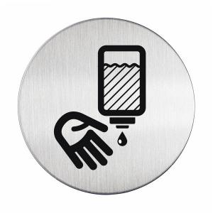 "Пиктограмма ""Дезинфицируйте руки"", настенная табличка, DURABLE, диаметр 83мм, 4903/23"