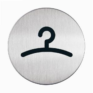 "Пиктограмма ""Гардероб"", настенная табличка, DURABLE, диаметр 83мм, 4914/23"