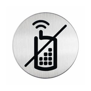 """Пиктограмма """"Мобильные телефоны запрещены"""", настенная табличка, DURABLE, диаметр 83мм, 4917/23"""