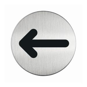 "Пиктограмма ""Стрелка"", настенная табличка, DURABLE, диаметр 83мм, 4927/23"