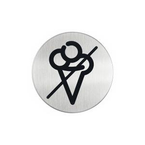 "Пиктограмма ""Вход с мороженым запрещён"", настенная табличка, DURABLE, диаметр 83мм, 4919/23"