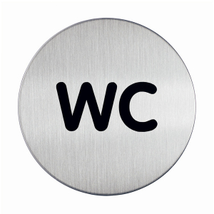 "Пиктограмма ""WC"", настенная табличка, DURABLE, диаметр 83мм, 4907/23"