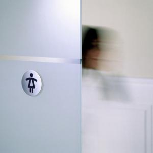 "Пиктограмма ""WC женский"", настенная табличка, DURABLE, диаметр 83мм, 4904/23"