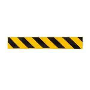 Полосы для напольной разметки желто-черные КП04, самоклеящиеся, 500х80мм, 6шт/уп