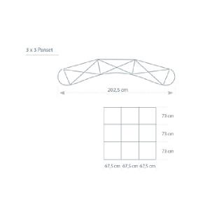 Поп-ап (pop-up) стенд 3x3, тм2x3, SPU33