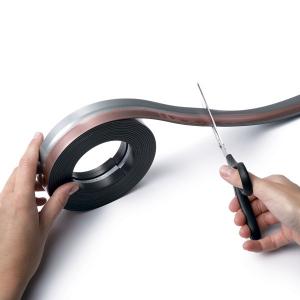 Самоклеящаяся магнитная полоса 5м DURABLE DURAFIX® ROLL 4708/01, черный