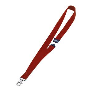 Шнурок для бейджа текстильный с безопасным замком, 44см*20мм, DURABLE, красный, 8137/03