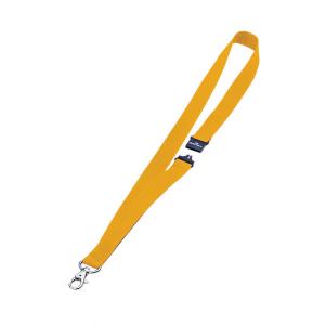 Шнурок для бейджа текстильный с безопасным замком, 44см*20мм, DURABLE, жёлтый, 8137/04