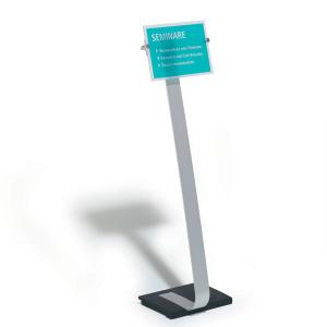 Стойка информационная напольная DURABLE CRISTAL SIGN STEND A4, 4818/23