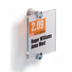 Табличка настенная DURABLE CRISTAL SIGN 105х105 мм, 4820/19, акриловое стекло